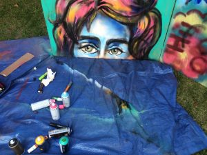 1st spray painting of 2015, in context