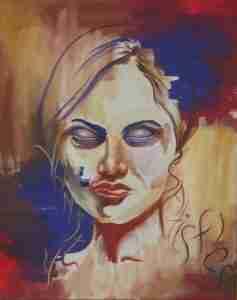 Vanity Satisfies, portrait painting