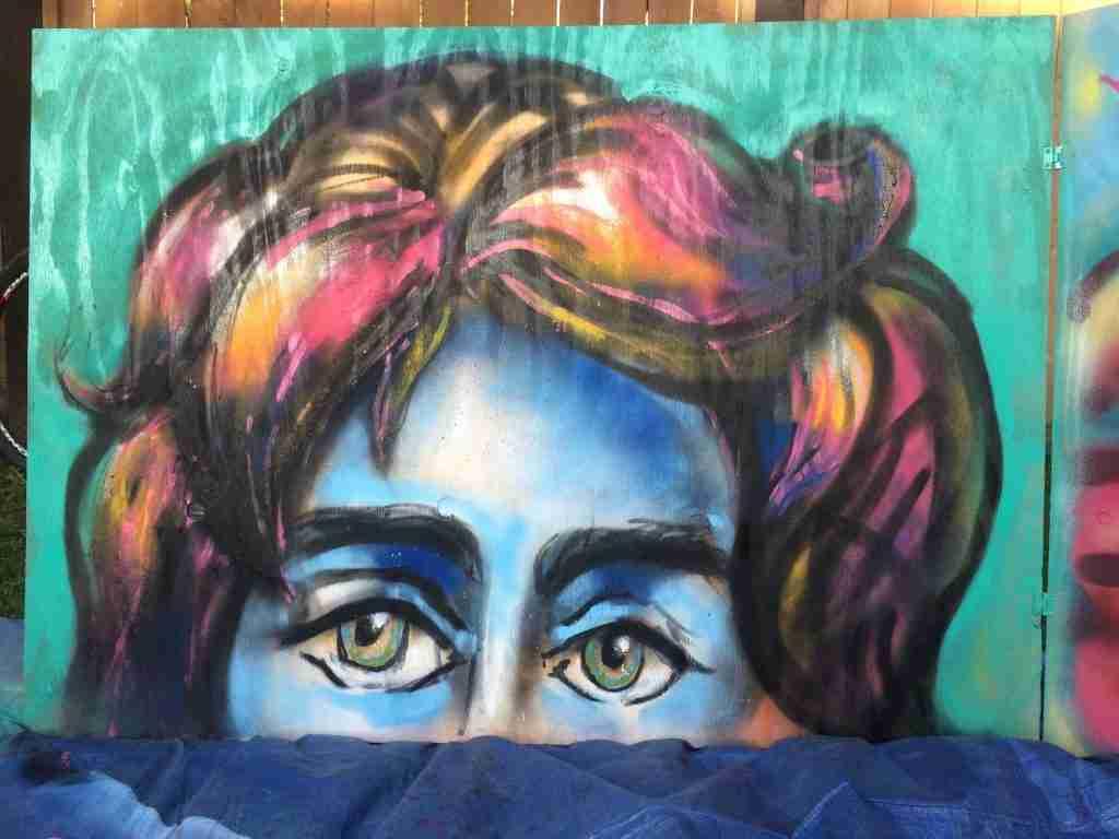1st spray painting of 2015