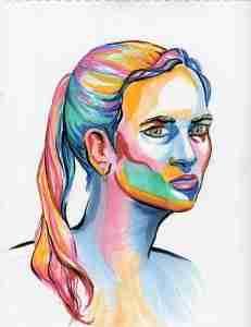 Hanne. Pen & marker on paper