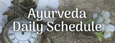 Ayurveda Daily Schedule