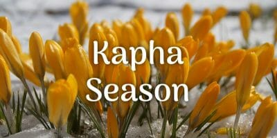It's Kapha season!