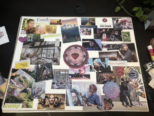 My new vision board for the next phase of my life.
